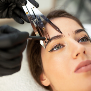 woman microblading at Daisy Laser Skincare Clinic